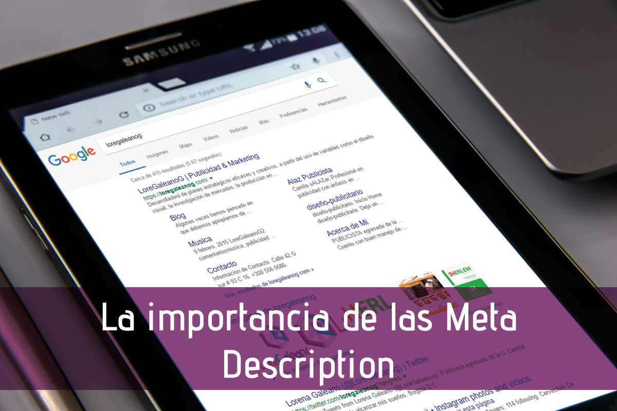 La importancia de las Meta Description